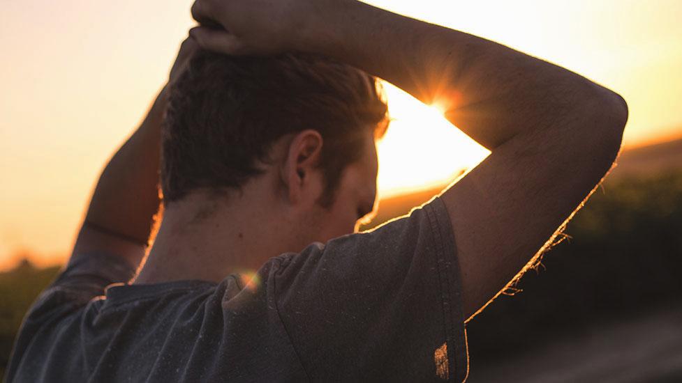 a man looking at the camera