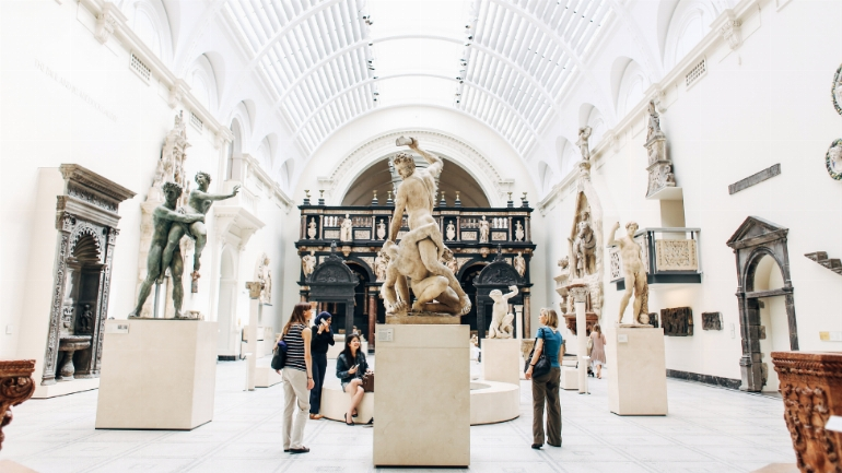inside a museum
