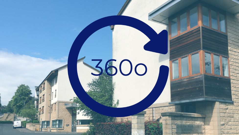 a 360 sign on the side of a building