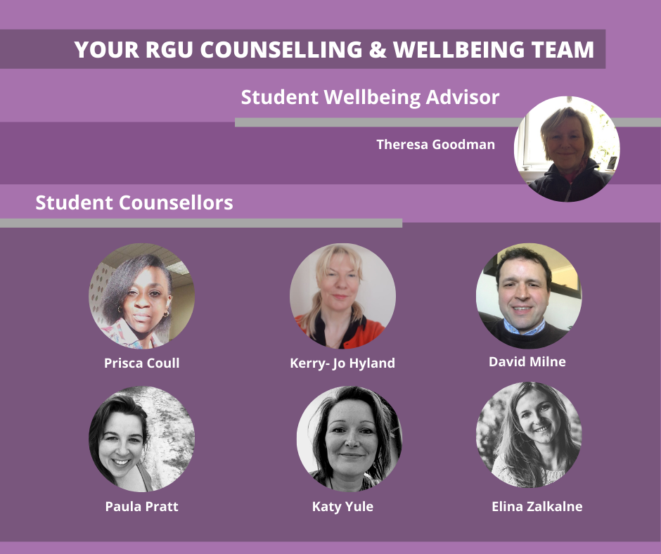 thumbnail photos of the Counselling team