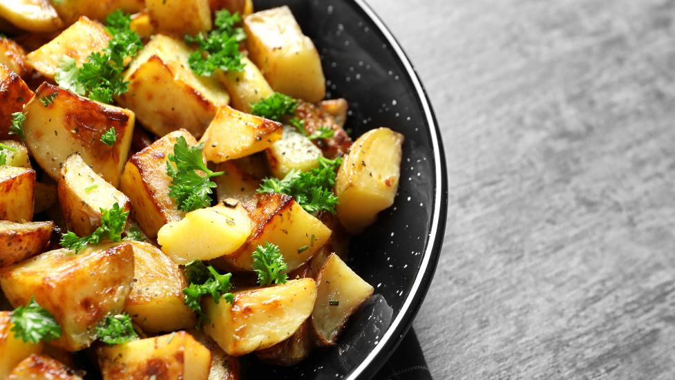 a bowl of roast potatoes