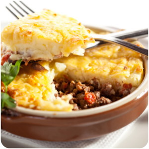 a plate of cottage pie