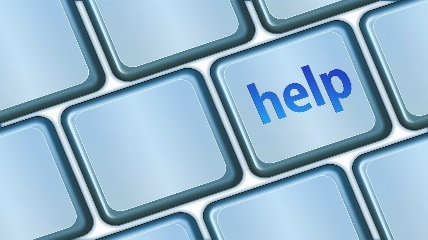 a help button on a keyboard