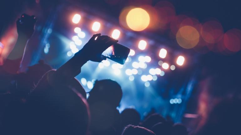 a festival crowd
