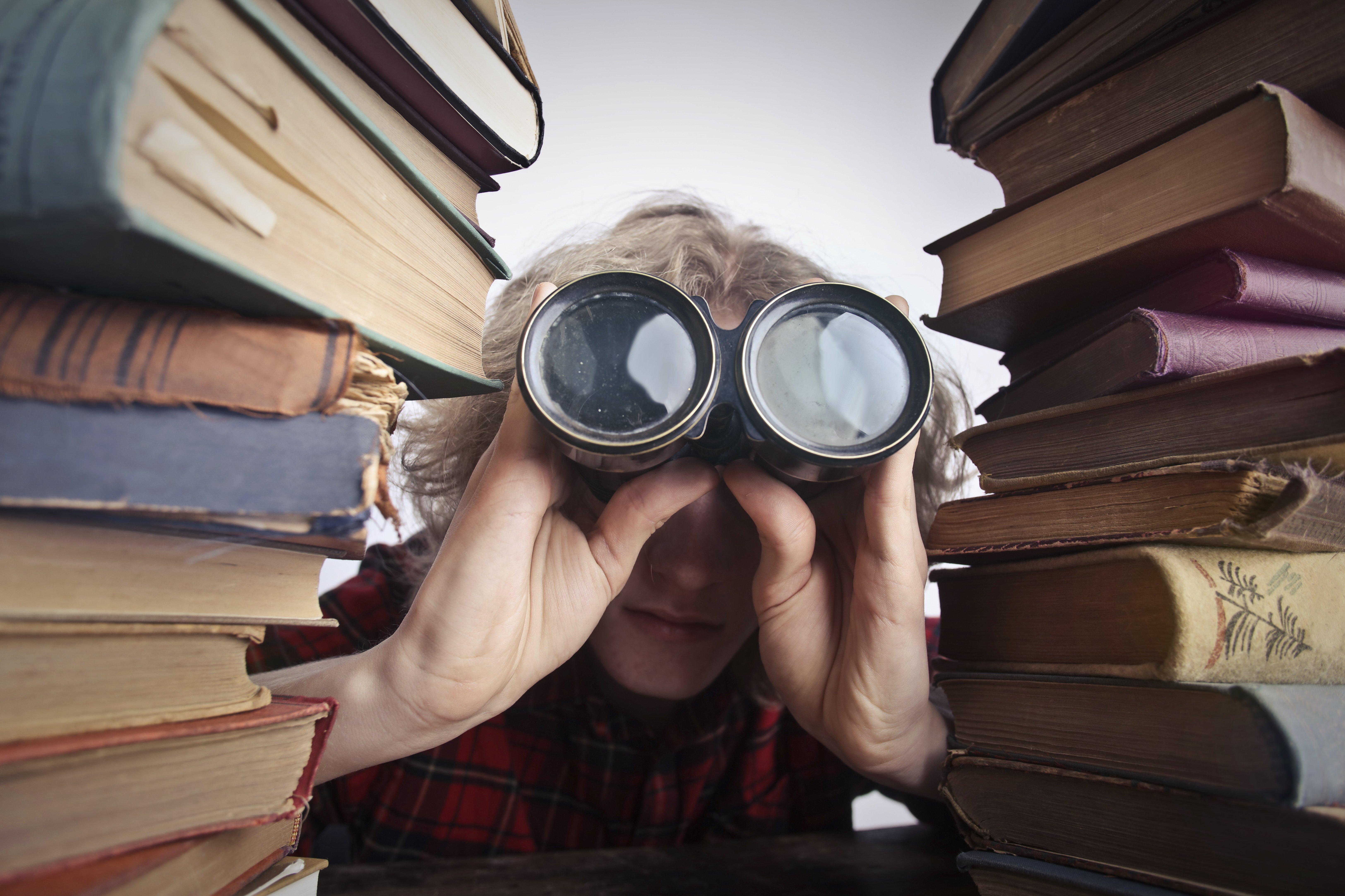 a person using binoculars