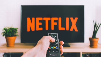 someone watching Netflix
