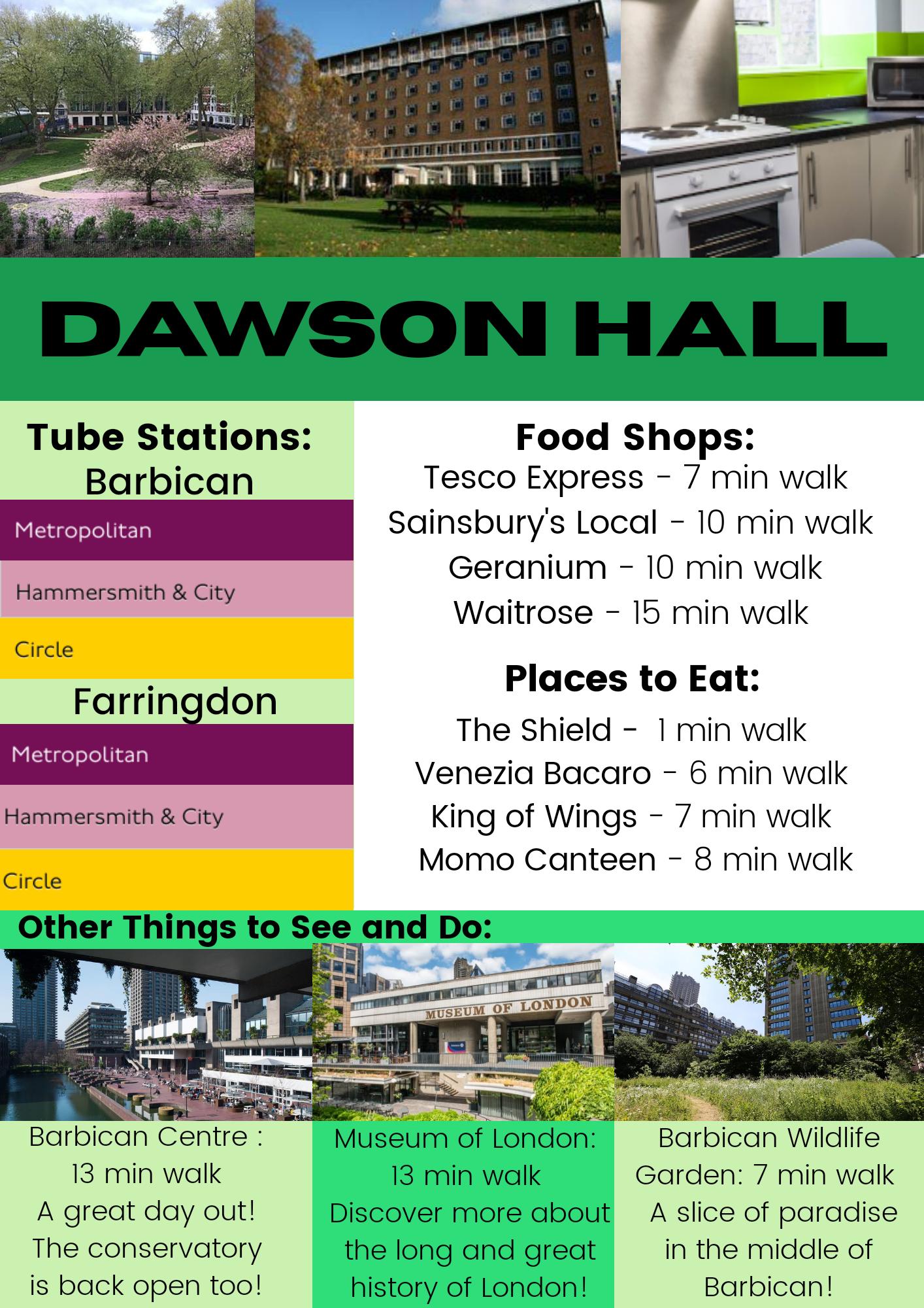 Dawson Hall leaflet