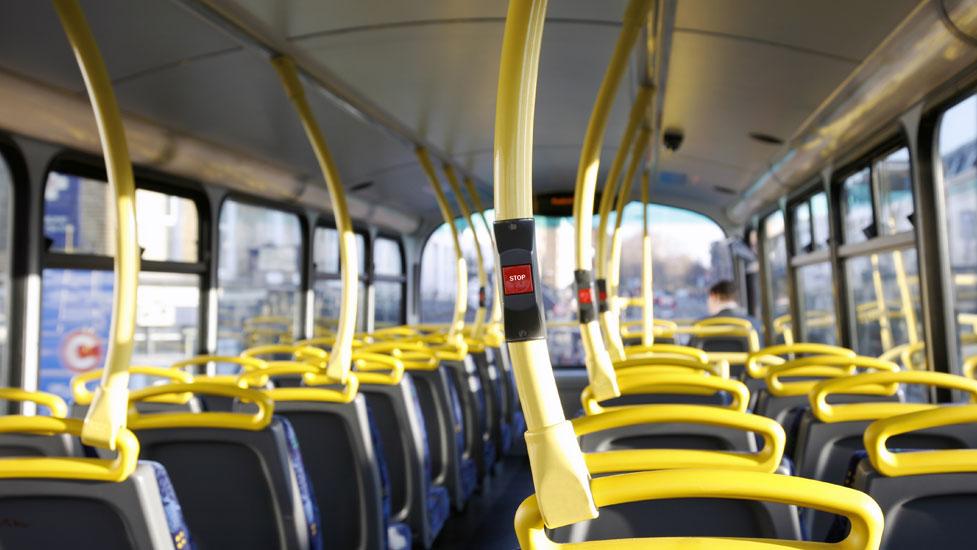 a yellow train car sitting on a chair