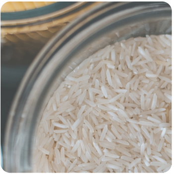a close up of some rice in a bowl