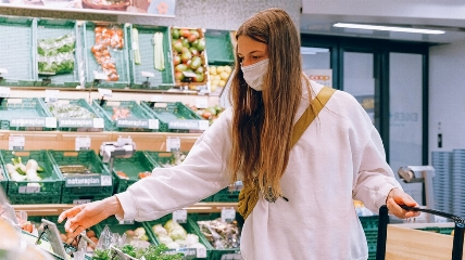 a woman in a supermarket