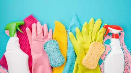 cleaning gloves and products