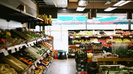a store filled with lots of food