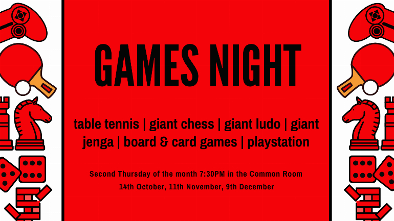 Monthly Games Night at Maclay