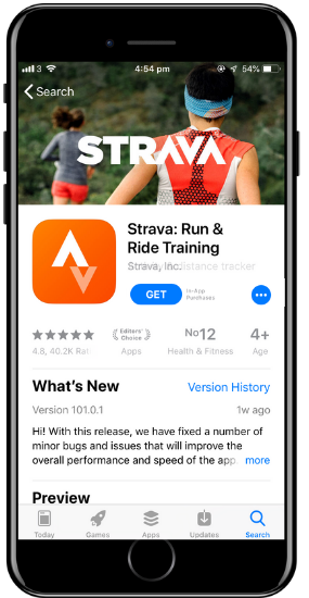 a screenshot of the Strava app on a cell phone