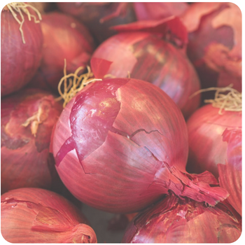 a pile of red onions