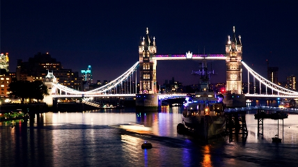 Tower Bridge over a body of water