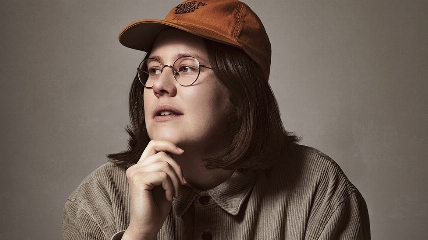 a person wearing glasses