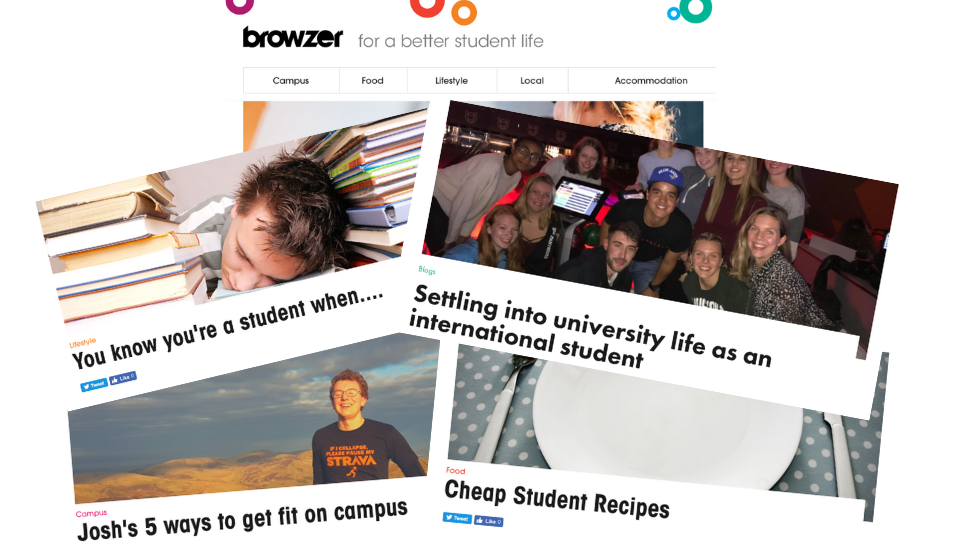 a screenshot of different articles from browzer