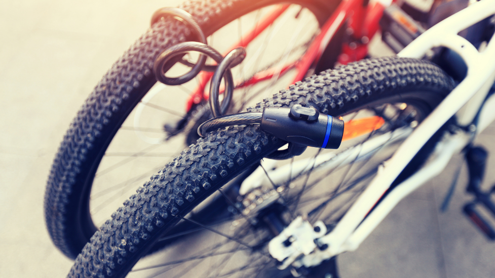 a close up of a bicycle